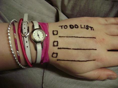 schedule on wrist