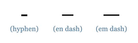 dashes